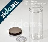 Botella cosmética clara Pet Square plástico