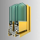 Sections d'extrusion en aluminium Grain en bois pour profil en aluminium