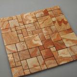 Het kleurrijke Mozaïek van het Onyx, Vierkante Marmeren Steen, de Tegel van de Muur
