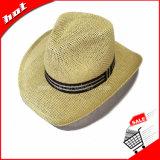 Sombrero de vaquero de papel tejido del sombrero de ala de Panamá del sombrero de paja