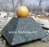 Fontaine de granit Ball, marbre, granite sphère bille flottante
