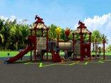 Nieuw Ontwerp voor Plastic Speelplaats van de Vorm van de Apparatuur van de Speelplaats van de Jonge geitjes van Jonge geitjes 20-35 de Openlucht Plastic Rotatie