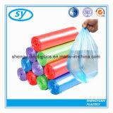 Sacs d'ordures en plastique de sac à ordures de HDPE sur le roulis
