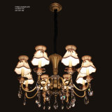 Luz do candelabro com os braços de cristal da decoração 18