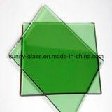 6mm X2140X3300 Verre teinté vert foncé pour bâtiment