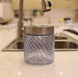 Bottiglia di vetro del vaso di vetro con il contenitore dell'ostruzione del miele del coperchio del metallo