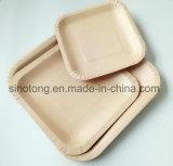 Plaque de carrés plats boissons jetables les assiettes de papier