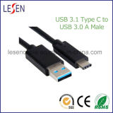 Cabo do USB, tipo C do USB 3.1 a USB 3.0 um macho