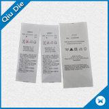 Оптовый ярлык внимательности сатинировки печатание для вспомогательного оборудования одежды