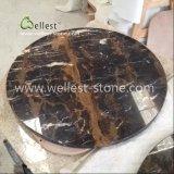Tavolino da salotto del marmo del fiore di Portoro, Tabella pranzante, Tabella di marmo