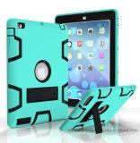 AppleのiPadのための険しいハイブリッド耐震性の完全な保護ケースカバー