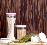 Frasco selado do vidro da tampa do armazenamento do alimento do vidro de Borosilicate frasco elevado