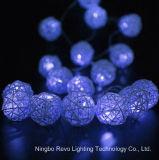 Quirlandes électriques de bille solaire de rotin pour Noël extérieur (RS1013)