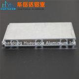 Effacer la chaîne de montage en aluminium anodisée de profil profil en aluminium personnalisé