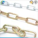 Zink Geplateerde DIN764 Middelgrote Relatie Ketting/Gelaste Relatie Ketting/de Ketting van het Staal