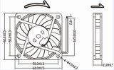 6010 24V Brushless Ventilator 60X60X10mm van de Motor Koelere Ventilator