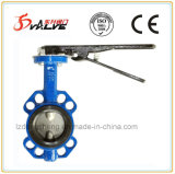 Cast Iron Wafer Type Butterfly Valve with Worm Gear and Lever