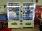 Grande distributeur automatique de boissons et boissons avec coin accepteur