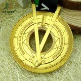 Jiaboはマットの金によってめっきされたメダルおよび賞をくり抜くために作った