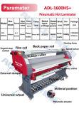 Precio frío durable eléctrico del formato grande de Audley de la máquina que lamina de papel