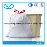 Commerce de gros sac à ordures en plastique HDPE coulisse