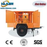 Machine mobile de filtration d'huile de transformateur de double bas de page d'axes