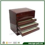 Caixa de armazenamento de madeira personalizados grandes para joalharia