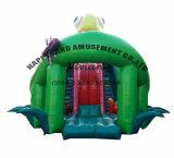 위락 공원 Inflatables Gaint Chamaleon 팽창식 활주