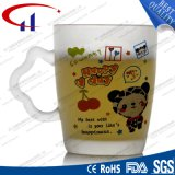 Sell quente caneca de vidro impressa da água da flor 290ml (CHM8100)