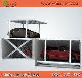ガレージは2水平なデュプレックス駐車上昇を使用した