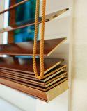 2017 obturadores de madeira personalizados das cortinas de rolo de Shuttes a máscara a mais popular