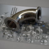 45 Degré sanitaires tache de coude de tuyau en acier inoxydable