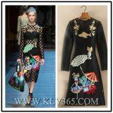 Lange Hülsen-Form kleidet Mädchen-/Women-reizvolles Kleid