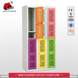 Metaal 6 van het Gebruik van de school Kast van de Deur van het Netwerk van de Deur de Kleurrijke met Plank