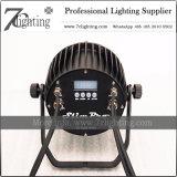 IP65 LED Quad Luzes PAR plana 7X12W Projector de iluminação de palco impermeável