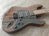 Corps de Zebrawood, guitare Guitarra de rue Eletctric de qualité de collet de Zebrawood