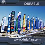 La piuma su ordinazione promozionale inbandiera la visualizzazione delle bandierine di spiaggia di volo