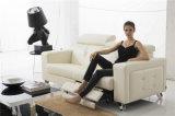 El sofá de la sala de estar con el sofá moderno del cuero genuino fijó (404)