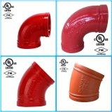 L'accessorio per tubi Grooved del ferro duttile un gomito da 90 gradi con FM/UL ha approvato