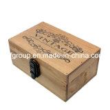 고품질 장방형 모양에 있는 주문을 받아서 만들어진 고대 포도 수확 나무 상자