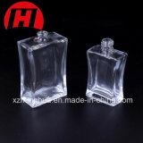 Botella cosmética rectangular del cristal de botellas de perfume con el rociador