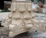 Mármol tallado de piedra pilar columna