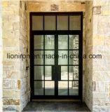 Portas da rua relativas à promoção retangulares do cano principal da porta francesa da entrada do ferro feito
