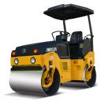3 Tonnen-doppeltes Trommel-Straßen-Rollen-Vibrationsschmutz-Verdichtungsgerät (JM803H)