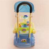 Автомобиль качания малышей с штангой нажима и оптовой продажей сени