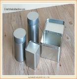 最新のデザイン方法空のアルミ缶の装飾的な円形の表示茶錫ボックス