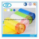 Bolso de basura plástico del lazo del deber del tirón del negro del LDPE para el compartimiento