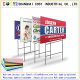 Panneau en plastique de feuille ondulée de la vente pp d'usine pour l'impression et la publicité