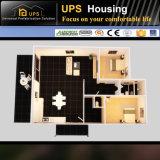 Casa prefabricada con dos dormitorios del envase del nuevo diseño con las decoraciones