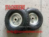 3.00-4 Roda de borracha pneumática do trole da mão da roda